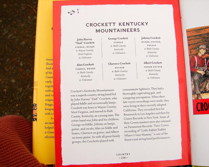 Crockett Kentucy Mountaineers, art by R. Crumb