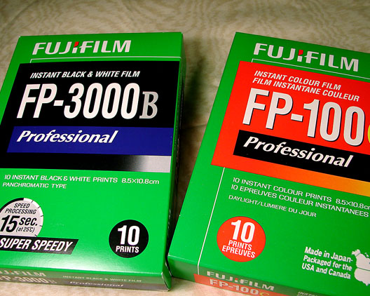 Fuji instant film 3000B and 100C, Andrew D. Barron ©1/07/11