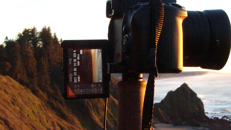 d5000 shoots the sunset, central Curry County, OR, Andrew D. Barron ©1/19/11