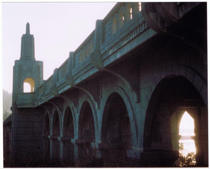 Patterson Bridge over the Rogue River, Minolta AutoPAK 440E 110, Andrew D. Barron©1/03/11