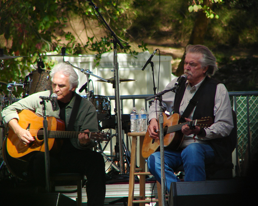 Guy Clark and Verlon Thompson perform at Hardly Strictly Bluegrass festival, Golden Gate park, Andrew D. Barron©10/1/11