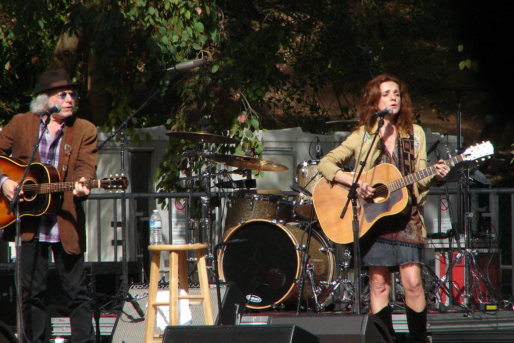 Buddy Miller and Patty Griffin perform at Hardly Strictly Bluegrass festival, Golden Gate park, Andrew D. Barron©10/1/11