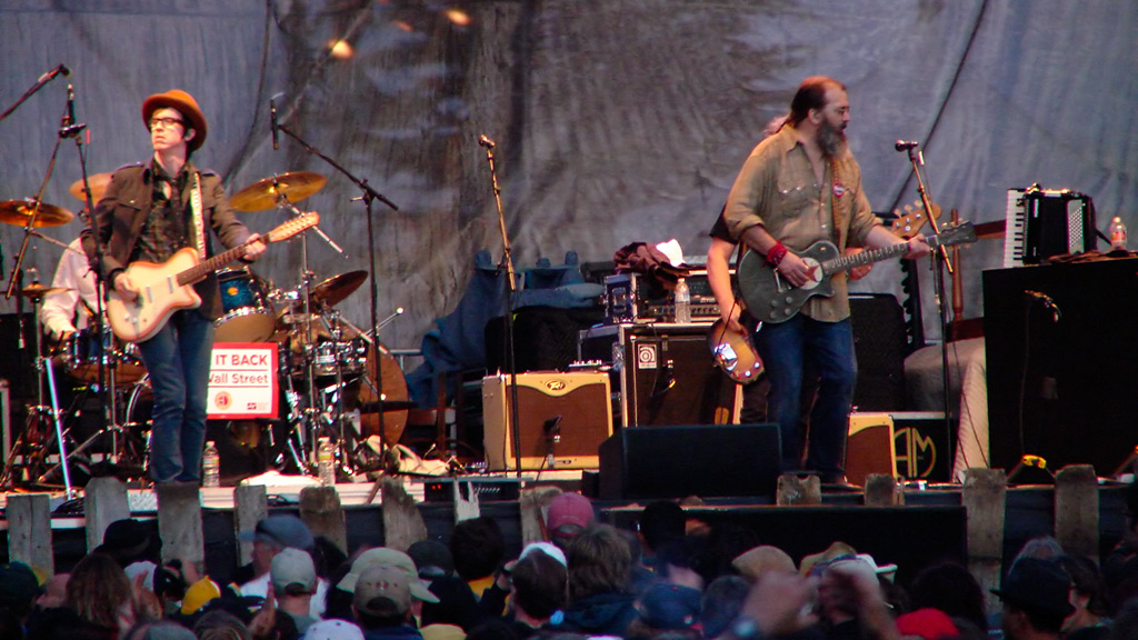 Kenny Vaughan and Steve Earle perform at Hardly Strictly Bluegrass festival, Golden Gate park, Andrew D. Barron©10/1/11