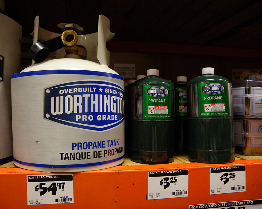 Worthington 5# propane tank, Andrew D. Barron©10/10/11