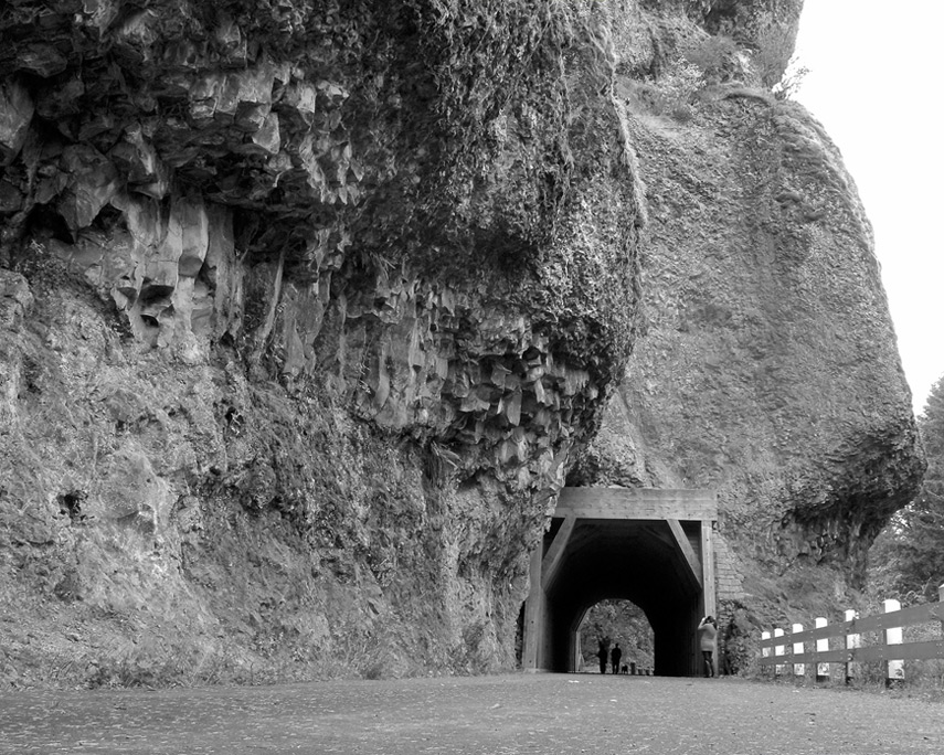 Tunnel in flood basalts, Columbia River gorge, OR, Andrew D. Barron©10/15/11
