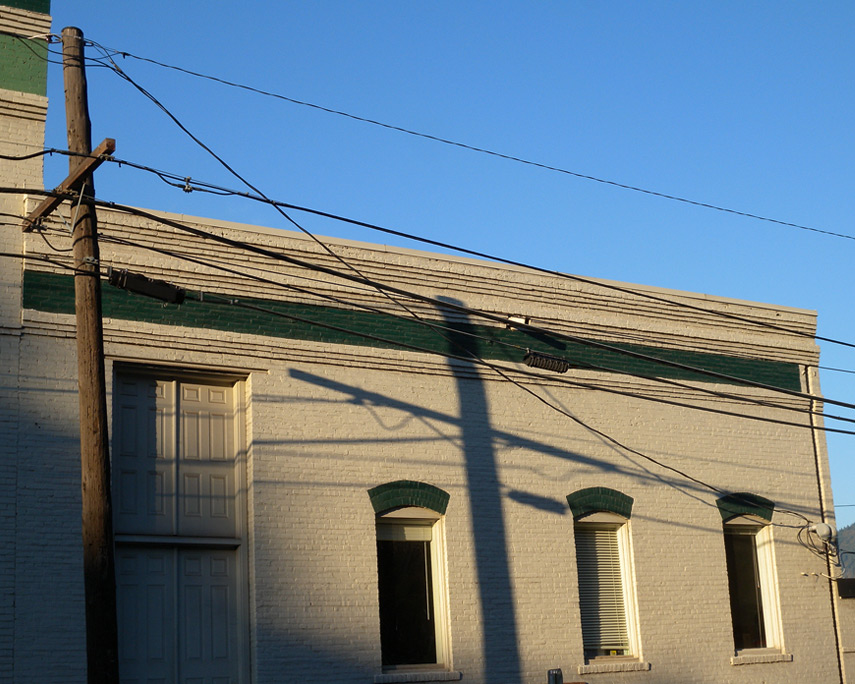 Building shadows, Hood River, Andrew D. Barron©10/16/11