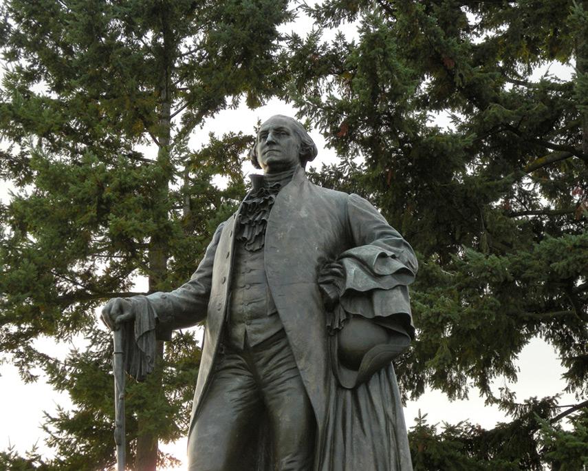 George Washington statue on Sandy, Andrew D. Barron©10/30/11