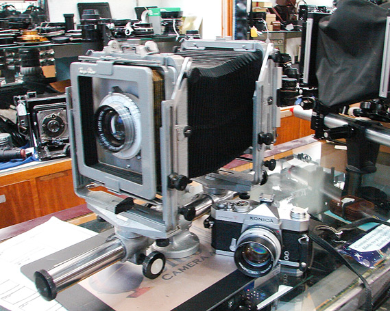 4x5 Toyo monorail, Portland camera shop, Andrew D. Barron©11/11/11