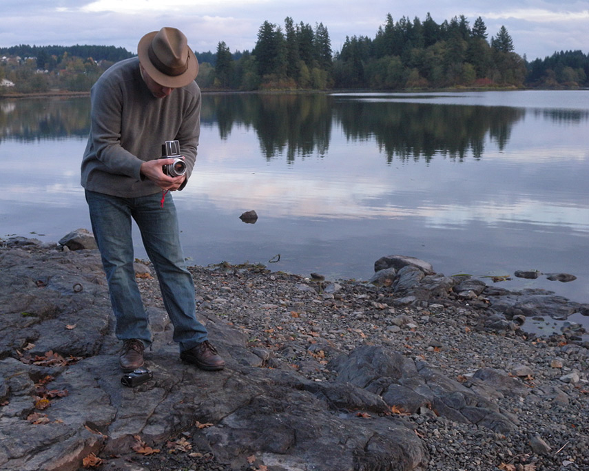 Andrew shoots at Lacamas Lake, Andrew D. Barron©11/19/11