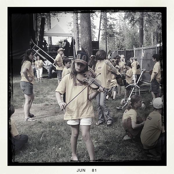Kids on bluegrass; Andrew D. Barron©6/18/11