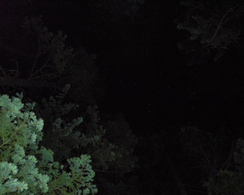 Stars, Johnsville cabin, Andrew D. Barron©7/8/11