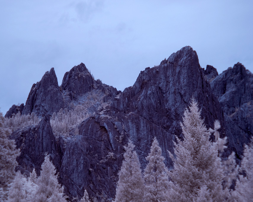 Castle Crags infrared, Andrew D. Barron©7/18/11