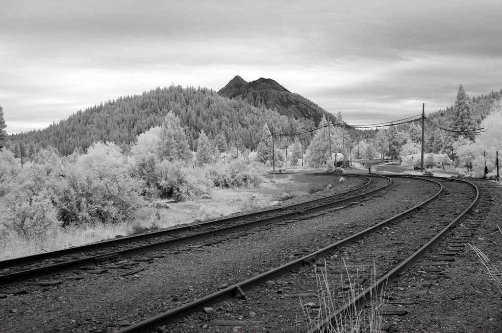 Infrared down the tracks, Weed, CA, Andrew D. Barron©7/18/11