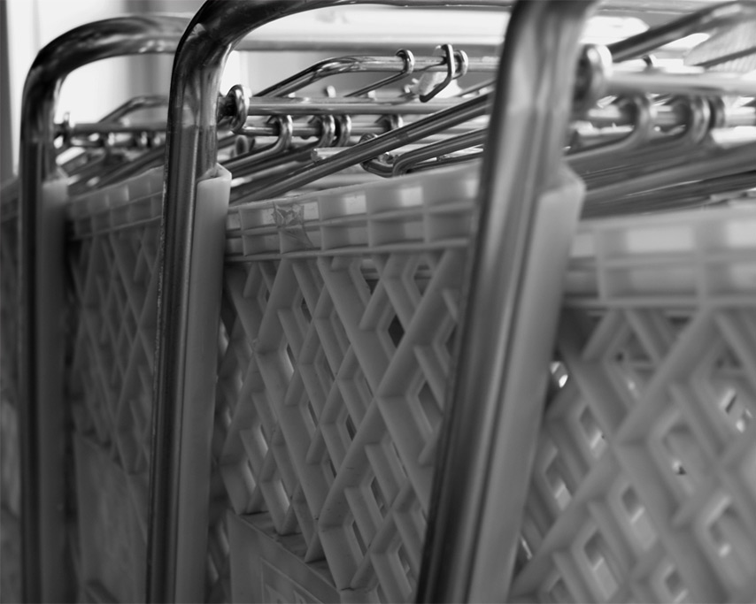 Red shopping carts, Andrew D. Barron©7/24/11