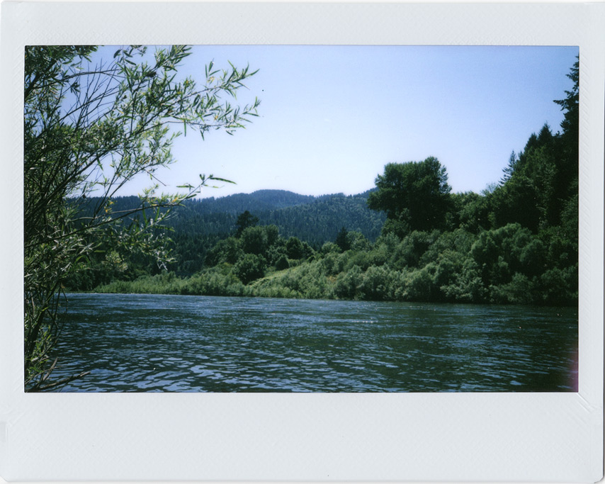 Instax 210: Rogue river near Agness, OR, Andrew D. Barron©7/25/11