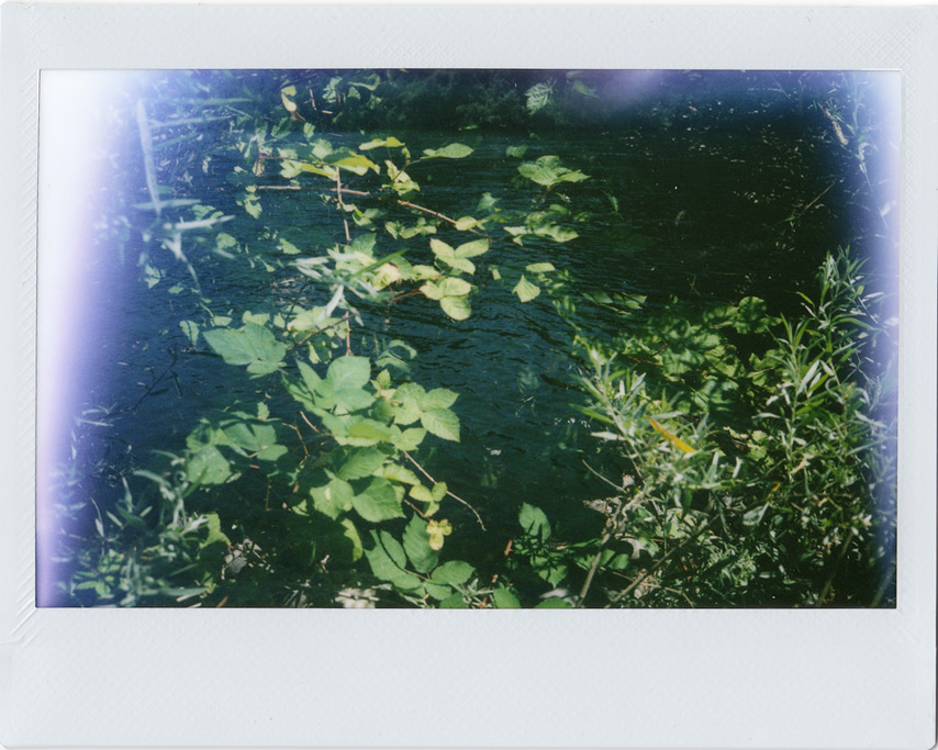 Instax double exposure, Rogue river near Agness, OR, Andrew D. Barron©7/25/11