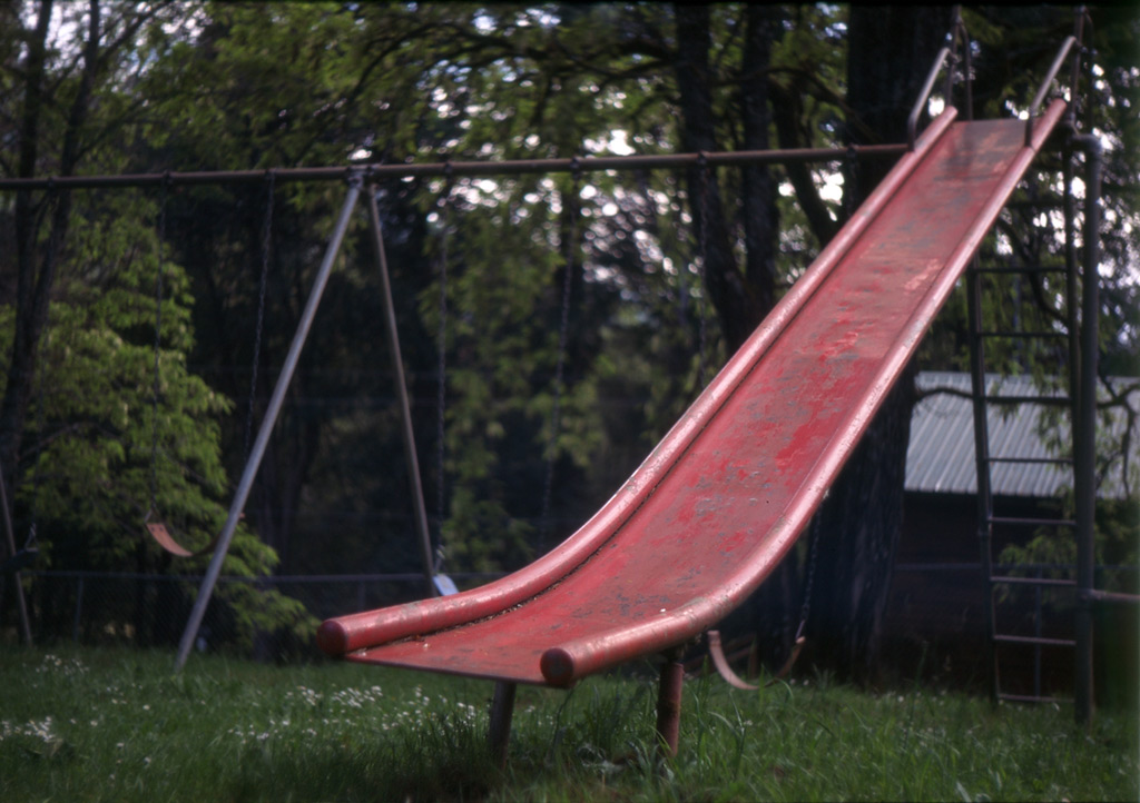Slide at Agness school, Andrew D. Barron©5/27/12