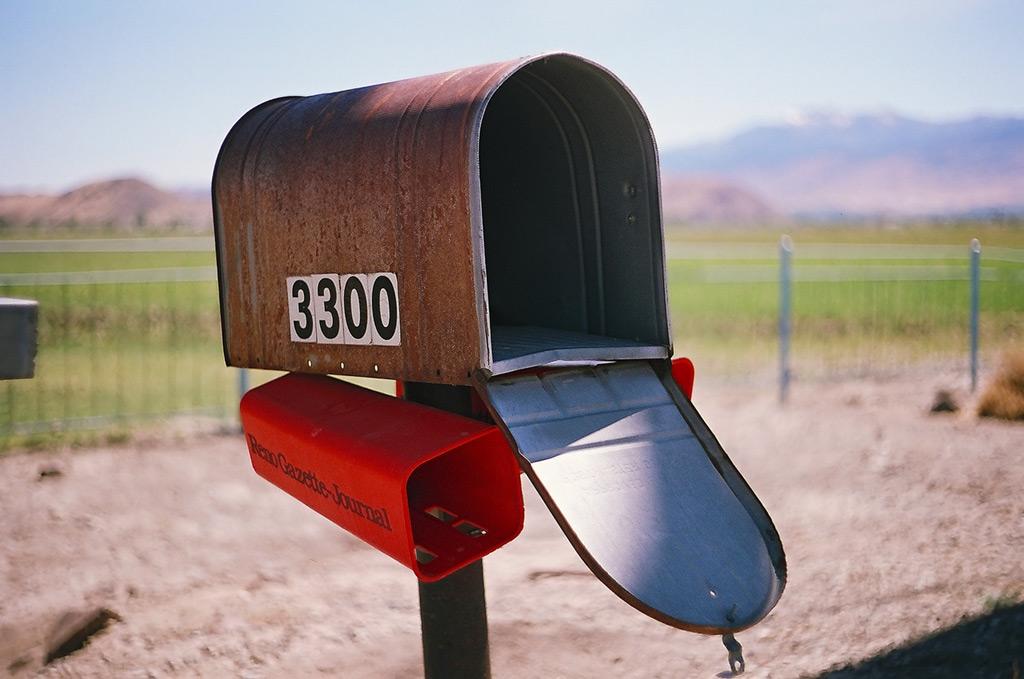 Rusty mailbox, Andrew D. Barron ©6/x/12