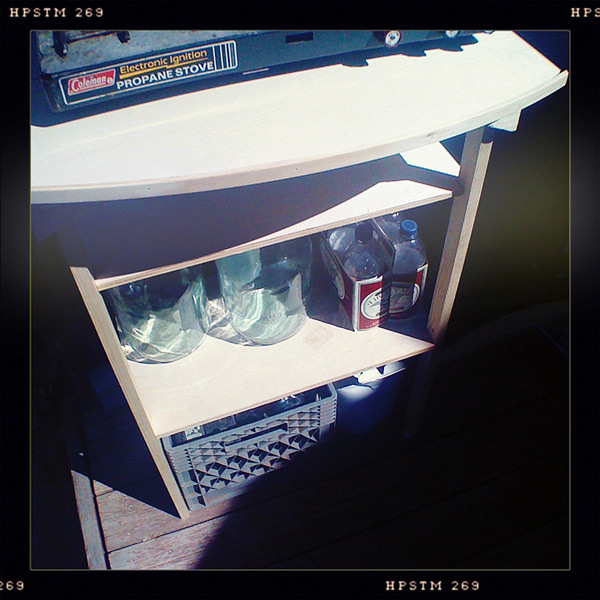 Camping utility table, Andrew D. Barron©7/29/12