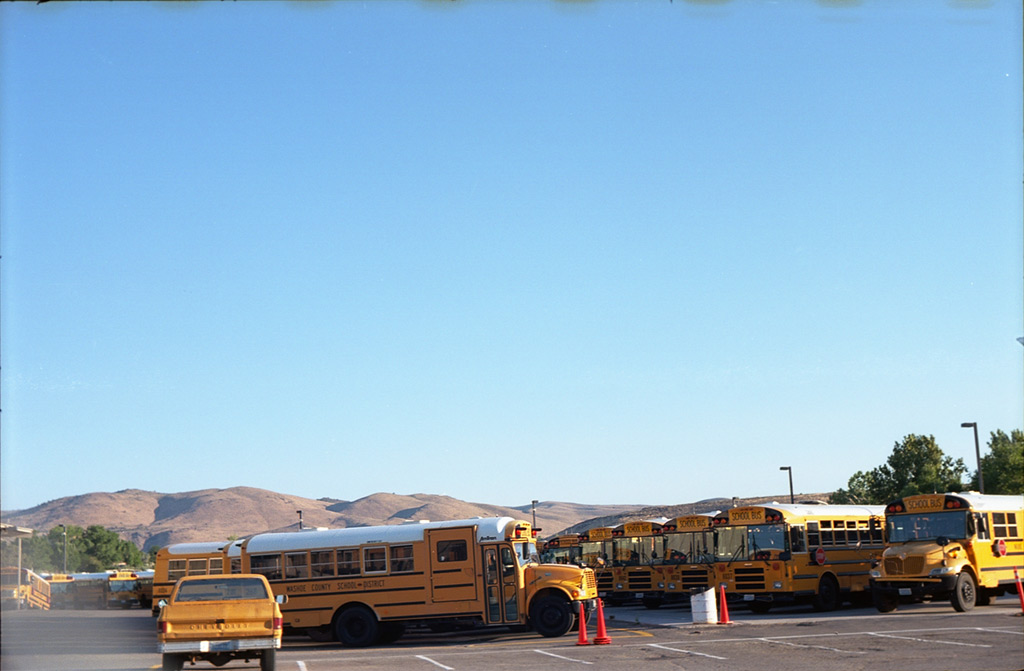 School buses, south Reno, Andrew D. Barron©8/8/2012