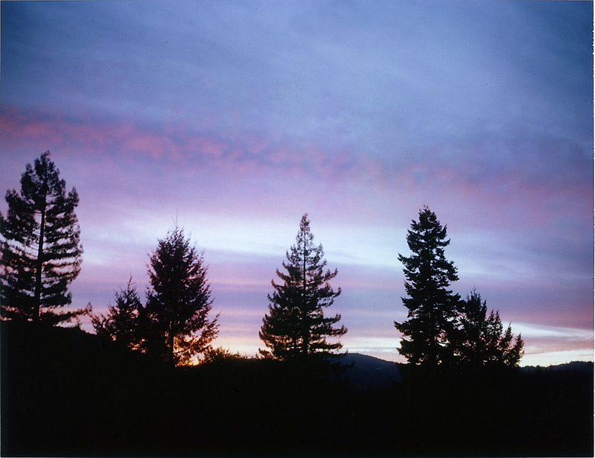 Sunset before the show, Andrew D. Barron©9/22/12 [Land Camera 100:Pack 2 shot 1 (FP100C)]