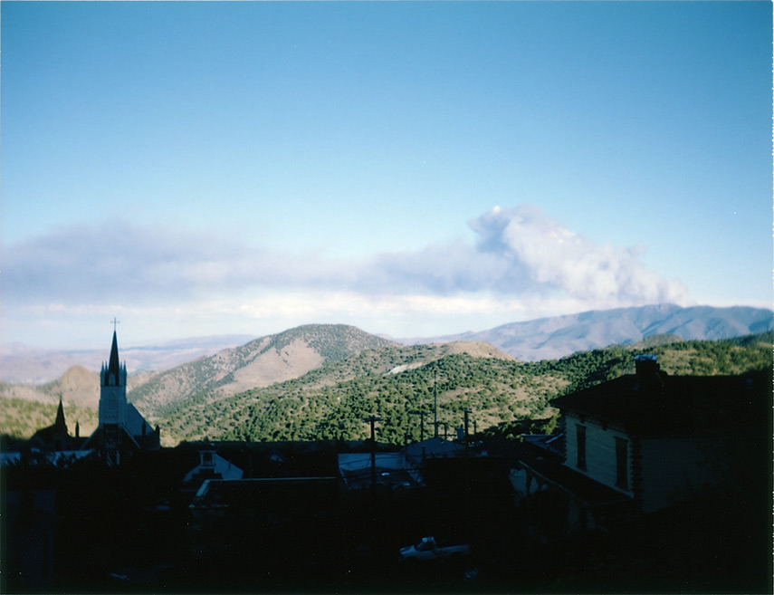 Above Virginia City and wildfire to the south, Andrew D. Barron©9/9/12 [Land Camera 320:Pack 2 shot 7]