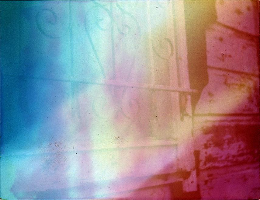 Window grate, Caspar, CA, Andrew D. Barron©9/15/12 [Land Camera 320:Pack 3 shot 6]