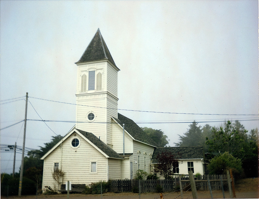Old church, Caspar, CA, Andrew D. Barron©9/16/12 [Land Camera 320:Pack 3 shot 6]