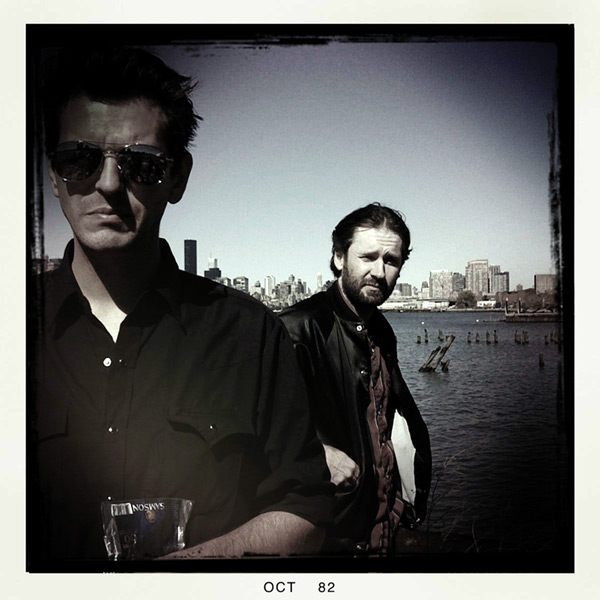 Rico and Leroy of Hellbound Glory, East river water front, Brooklyn NY, Andrew D. Barron©10/12/12 [iphone 3g/Hipstamatic 190]