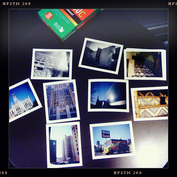 Drying polaroids, Tulsa, OK, Andrew D. Barron©10/26/12 [Iphone 3G, Hipstamatic 190]