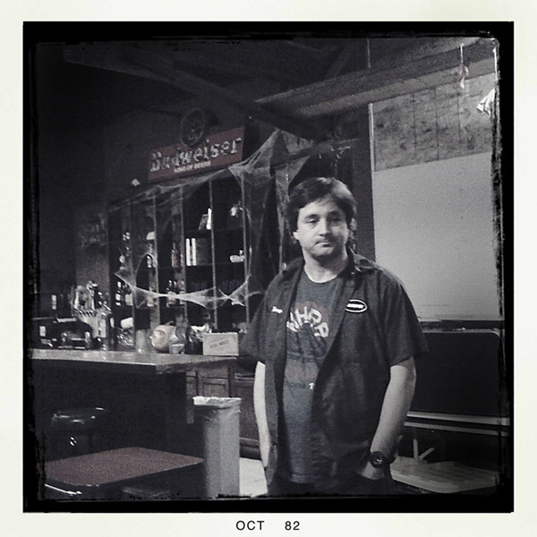 Sound guy, Des Moines, IA, Andrew D. Barron©10/28/12 [Iphone 3G, Hipstamatic 190]
