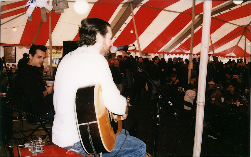 Rico and Leroy onstage at the Taste of the Catskills, Andrew D. Barron©10/7/12 [Fuji Instax 210 (Instax wide)]