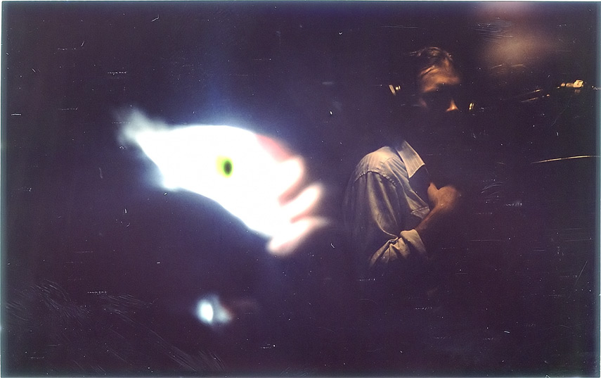 Leroy in the isolation booth, Avatar Studios, NY, Andrew D. Barron©10/10/12 [Instax 210: shot 7]