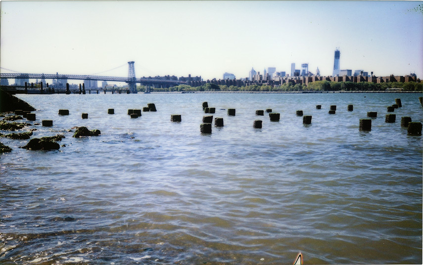 East river water front, Brooklyn NY, Andrew D. Barron©10/12/12 [Fuji Instax 210 (Instax wide)]