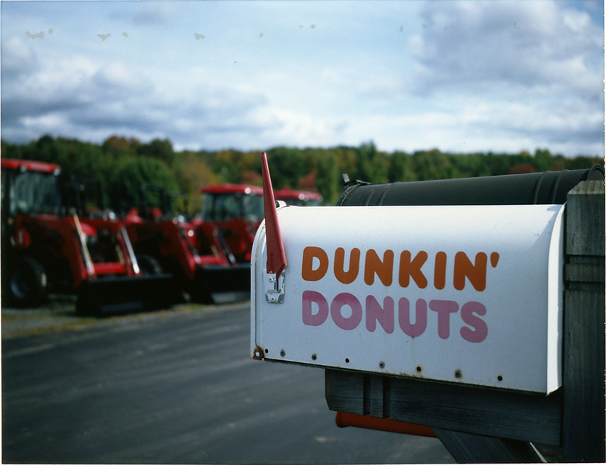 Dunkin Donuts 1133 NY29, Greenwich NY, Andrew D. Barron©10/9/12 [Land Camera 330:Pack 4 shot 1 (FP100C)]