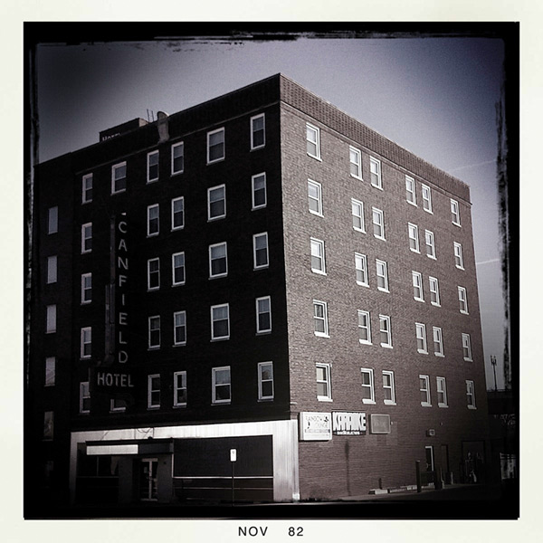 The Old Canfield Hotel, Dubuque, IA, Andrew D. Barron©11/1/12 [Iphone 3G, Hipstamatic 190]