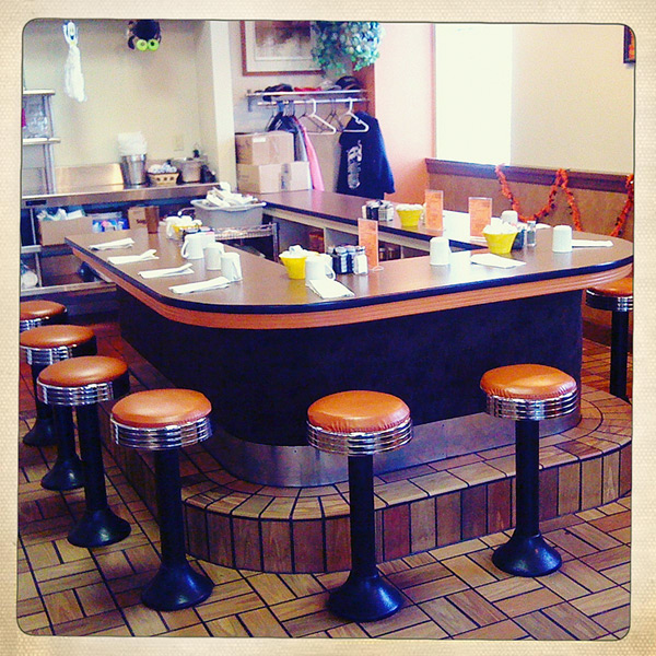 Sunshine Diner, Dubuque IA, , Andrew D. Barron©11/1/12 [Iphone 3G, Hipstamatic 190]