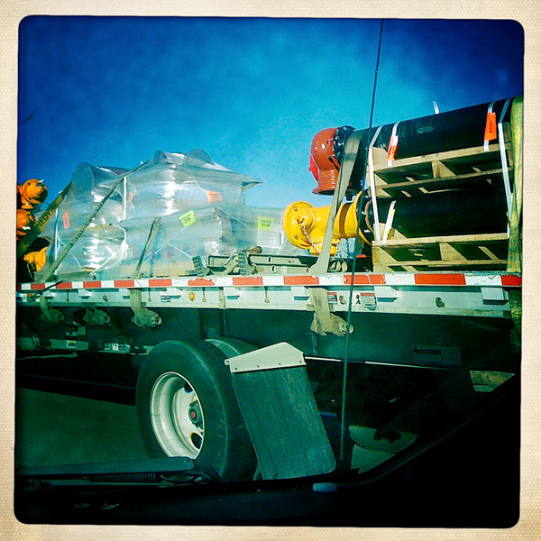 On the highway, Andrew D. Barron©11/1/12 [Iphone 3G, Hipstamatic 190]