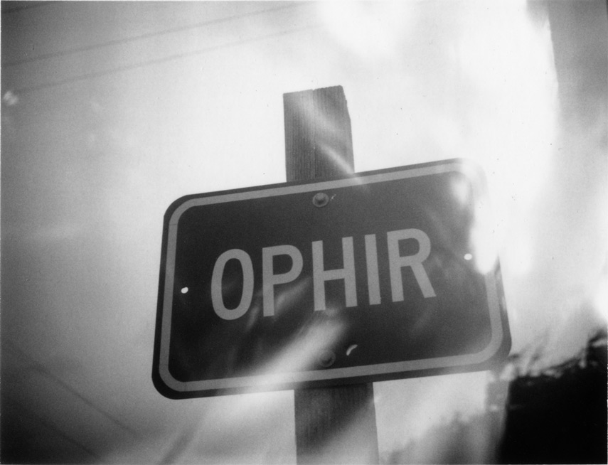 Entering Ophir, Andrew D. Barron©11/28/12 [Polaroid 100, FP3000B]