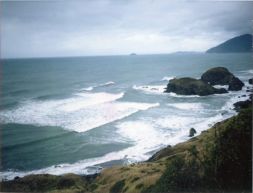 From above Sisters Rocks, Andrew D. Barron©11/28/12 [Polaroid 330, FP100C]