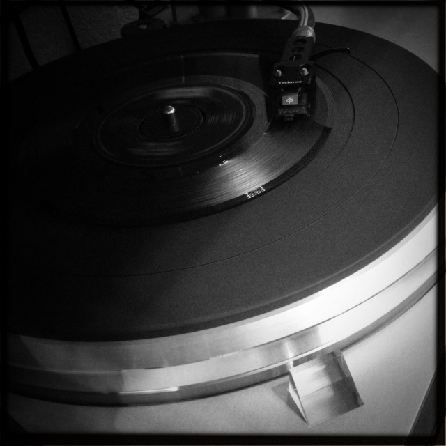 Turntable going again, Andrew D. Barron©2/25/13 [iPhone 4S, Hipstamatic 261]